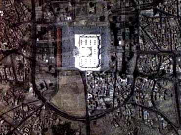 Masjidil Haram from settelite