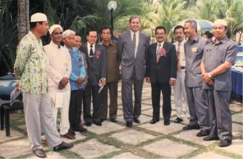 Bersama Ketua Setia Usaha Kementerian Pendidikan, Tan Sri Wan Zahid