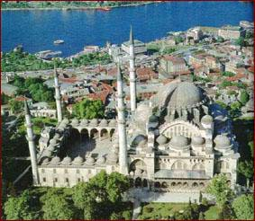 Ariel view of Blue Mosque